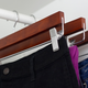 Contemporary Wooden Skirt Hanger with Metal Clips (Set of 3)