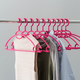 Contemporary Plastic Hangers with Accessory Hook (Set of 10)