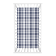 Trend Lab Buffalo Check Navy/White Flannel Fitted Crib Sheet