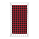 Trend Lab Buffalo Check Red/Black Jersey Fitted Crib Sheet