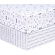Trend Lab Scandi Animal 2 Pack Microfiber Fitted Crib Sheets