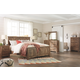 Blaneville King Panel Bed with Mirrored Dresser and Chest