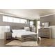 Zelen King Panel Bed with Dresser Mirror and Nightstand