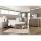 Zelen Queen Panel Bed with Dresser Mirror and Nightstand