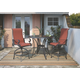 Apple Town 3-Piece Outdoor Bar Table Set