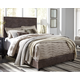 "Dolante King Upholstered Bed with 10"" Memory Foam Mattress in a Box"
