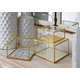Imax Marigold Glass Boxes (Set of 3)