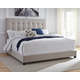 """Dolante King Upholstered Bed with 10"""" Memory Foam Mattress in a Box"""