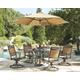 Carmadelia 7-Piece Outdoor Dining Set with Umbrella