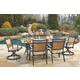 Carmadelia 7-Piece Outdoor Rectangular Dining Set