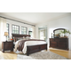 Porter King Sleigh Bed with Mirrored Dresser and Chest