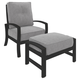 Castle Island Outdoor Lounge Chair with Ottoman