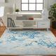 Nourison  Jubilant White and Blue 5'x7' Contemporary Area Rug