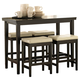 Kimonte 5-Piece Counter Height Dining Room