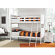 Lulu Twin Bunk Bed with Nightstand Mattress and Pillow