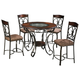 Glambrey Counter Height Dining Table and 4 Barstools