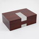 Bey-Berk Wood 8 Watch Box with Stainless Steel Accents