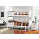 Lulu Twin Bunk Bedroom with Nightstand
