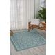 Nourison Home & Garden Blue 5' X 8' Area Rug
