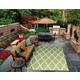 Nourison Home & Garden Green 5' X 8' Area Rug