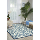 Nourison Home & Garden Blue 4' X 6' Area Rug