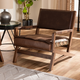Baxton Studio Rustic Upholstered Lounge Chair