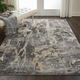 Nourison Fusion Beige and Gray 5'x7' Modern Area Rug