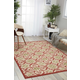Nourison Caribbean Ivory and Red 8'x11' Oversized Rug