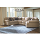 Amandine 4-Piece Sectional with Cuddler