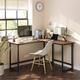 Vasgale Alinru L-Shaped Corner Desk With Monitor Stand