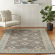 Nourison Tranquil TRA10 Pink and Gray 5'x7' Bordered Oriental Area Rug