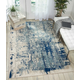 Nourison Maxell Blue and Ivory 5' x 7' Area Rug
