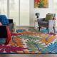 Nourison Aloha Multicolor 8'x11' Oversized Indoor-outdoor Rug