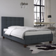DHP Atwater Living Ryder Blue Linen Twin Upholstered Bed