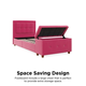 DHP Atwater Living Damia Twin Upholstered Bed with Storage Chest