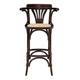 Euro Style Adna Counter Stool in Walnut with Cane Seat in Natural