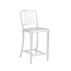 Euro Style Cafe Counter Stool in Matte Aluminum