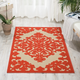 Nourison Aloha Red and White 3'x4' Indoor-outdoor Area Rug