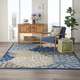 Nourison Aloha 8'x11' Blue Patio Area Rug