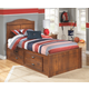 Barchan Twin Panel Bed with 4-Storage