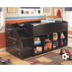 Embrace Loft Bookcase Bed with Left Steps