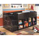 Embrace Loft Bookcase Bed with Right Steps
