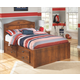 Barchan Full Panel Bed with 2 Storage Drawers