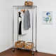 Honey Can Do Rolling Garment Rack with Single Hanging Bar