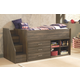 Juararo Loft Bookcase Bed with Storage