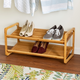 Honey Can Do Two Tier Bamboo Shoe Rack