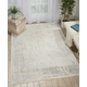 Nourison HomeSilver Screen White and Teal Blue 5'x7' Area Rug