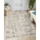 Nourison HomeSilver Screen Ivory White 5'x7' Area Rug