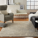 Nourison Beige and Ivory 4'x6' Area Rug
