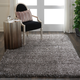 Nourison Luxe Shag Charcoal Gray 5'x7' Flokati Area Rug